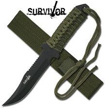 Cool Compact Survivor  Full Tang  Knife + LED Solar Power KeyChain Lite