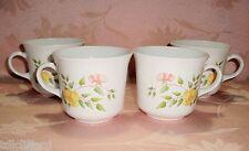 Vintage Corelle WINDSOR ROSE 4 Cups Mugs Centura Yellow Roses NICE