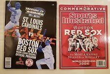 2004 MLB Baseball World Series Program & SI Boston Red Sox vs St Louis Cardinals