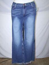 Fiorucci Blue Classic Five Pocket Boot Cut Denim Jeans Juniors Size 13 Large