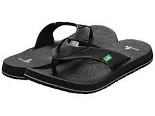 Sanuk Men's Beer Cozy Flip Flop Black Size 8