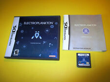 Electroplankton Nintendo DS Lite DSi XL 3DS 2DS Game w/Case & Manual