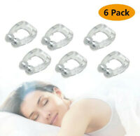 6 X Silicone Magnetic Anti Snore Stop Snoring Nose Clip Sleeping Aid Apnea Guard