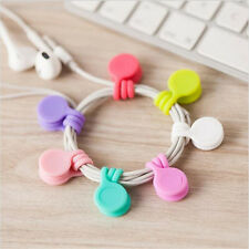 Silicone Magnet Coil Earphones Cable Winder Headset Cord Holder Wire Organizer