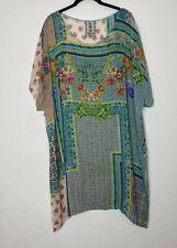 Johnny Was Green Floral Tunic