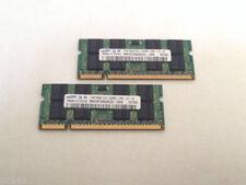 Memoria (RAM) con memoria DDR2 SDRAM de ordenador Samsung SO DIMM 200-pin