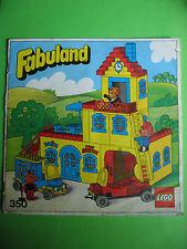 Lego Fabuland 350 Haus Bauanleitung und Bilderbuch, only Instructions