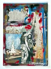 ROBERT RAUSCHENBERG -- A SIGNED 1960s ORIGINAL MIXED MEDIA COLLAGE, RARE