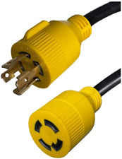 L14-30 Generator Extension Cord, 4-Prong, 10 AWG 4 Wire, 30A, 125/250V NEMA to -