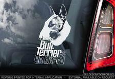Bull Terrier - Car Window Sticker - Dog Sign -V06