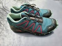 Salomon Womens Speedcross 4 CS Green Trail Running Shoes 7.5 Medium (B,M) 1805
