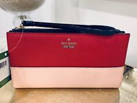 NWT Kate Spade Cameron Eliza Bifold Wallet bicolor Leather wristlet holds iPhone