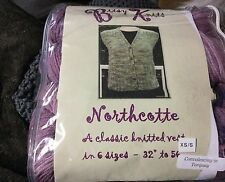 New Bitsy Knits Classic Knitted Vest Kit XS/S