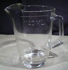 New listing Pitcher Beer Jug Heavy Glass Clear Glass Beverage Water Pitcher