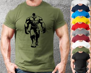 Hulk Silh. Gym T-Shirt Mens Gym Clothing | Workout Training Vest Bodybuilding