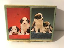 Vintage Congress Double Deck Playing Cards Puppies Dogs