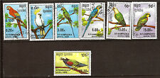 KAMPUCHEA Set completo 7 sellos :Perroquets,perico,ara,cacatoe 1M 371