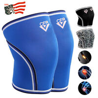 7mm 2x Knee Sleeves Support Compression Brace Squats Weightlifting Powerlifting