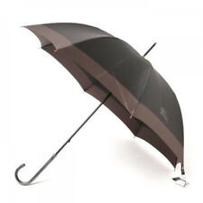 New Burberry Umbrella Two tone 60cm Simple Gray Mens from Japan