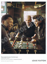 3 World Cup soccer Heroes in LOUIS VUITTON advert - A4 size HQ print ONLY