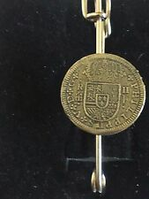 "Moneda 2 reales WC44 Bufanda Broche y Kilt Pin estaño 3"" 7.5 Cm"