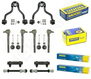 For GMC K2500 Yukon Front Control Arms w/ Inner & Outer Tie Rods & Sleeves Moog