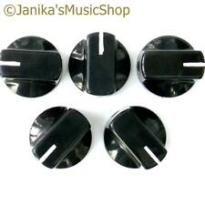 5 black potentiometer switch knobs guitar  amplifier etc stove pot knob + screw