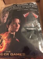 Hunger Games Costume Adult XL/XXL. NO Pin   District 12 Replica Training Shirt