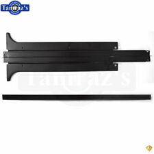 78-88 T-Top Center Rail Weatherstrip Retainer & Top Cap Molding STAINLESS BLACK