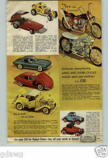 1965 PAPER AD Toy Motorcycle Show Drag Revell Scale Plastic Model Monogram Duece