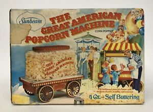 Vintage Sealed Sunbeam The Great American Popcorn Machine New Old Stock NOS Rare