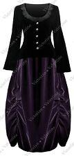 Victorian Steampunk Titanic Gothic Civil War Plus Velvet Top Bustle Skirt Dress