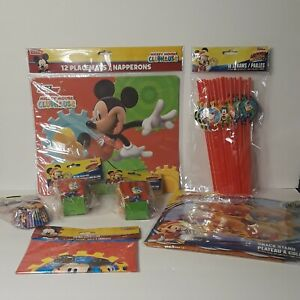 Disney Mickey Mouse Clubhouse Roadster Racers Birthday Party Cupcake Supply Kit