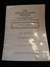 Partition Partita en La mineur JS Bach Flûte seule Alain Marion Music Sheet