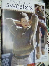 Carefree Sweaters Knitting Book By Leisure Arts- 9 Styles- All Shown