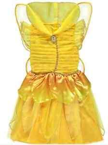 Girls Disney Fairies Yellow Iridessa Fairy Fancy Dress Up Costume Age 1 -2 Years