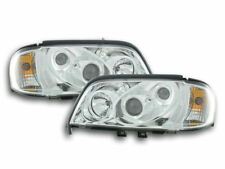 chrome finish headlights front lights one block for Mercedes C class W202 93-00