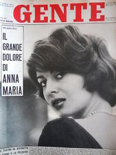 GENTE n°41 1960 Anna Maria Ferrero Yves Saint Laurent Regina Fabiola [C91]