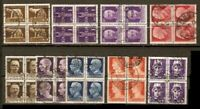 ITALY LOT ALL BL of 4 Sc 213 to 14 219 221 to 24 228 C16 USED FVF  SEE SCAN
