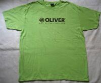 OLIVER Herren T-Shirt in Grün mit Motiv / Gr. XL / NEU