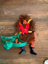 Vintage Original He-Man MOTU GRIZZLOR 100% Complete with Armor + Bow Accessory