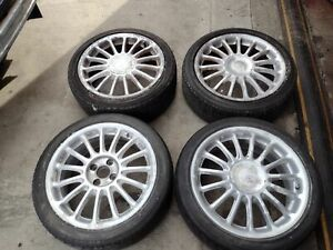 MG ZR MG ZS ROVER 25 45 ALLOY WHEELS RIMS TYRES 4 SET 205 45 17 INCH 4X100 PCD