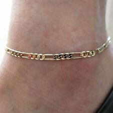 Approx Men Fashion Figaro Link Alloy Foot Chain Bracelet Jewelry Anklet Ankle