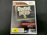 Guitar Hero 5 Nintendo Wii Game *Complete* (PAL)