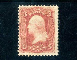 USAstamps Unused FVF US Serie of 1867 Washington Scott 94 OG MLH F Grill