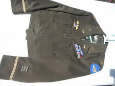 WW2 USAF/RAF 8Th Air Force Ike Jacket Size MFG Beker Uniform CO