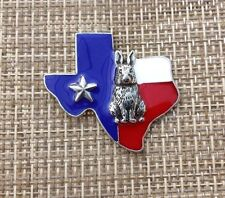 FOR 1 TEXAS LONE STAR STATE COLOR OF USA FLAG With RABBIT PEWTER PIN ALL NEW.