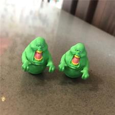 2 Lot Bandai Ghostbusters Green Slimer Monster Mini Figure Toy