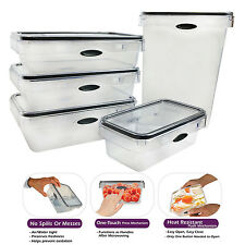 10 Piece Food Storage Set Rectangular Plastic Container, Pantry Snack Canister