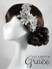 Satine vintage wedding crystal lace headband hair accessories headpiece RRP$90